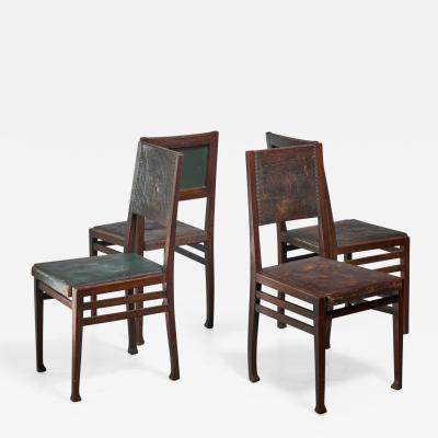 Otto Wytrlik Set of 4 Otto Wytrlik Jugendstil chairs