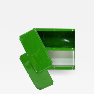 Otto Zapf Otto Zapf Green Softline Plastic Shelf Germany 1971