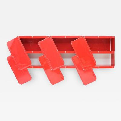 Otto Zapf Rare Otto Zapf Red Plastic Shelf System Germany 1971 Indesign