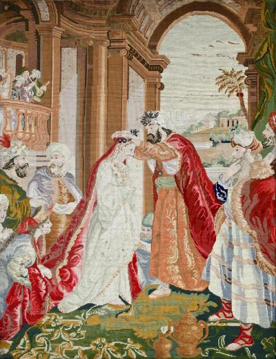 Ottoman Coronation Needlepoint Tapestry