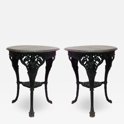 Outdoor English Victorian Iron Pub Tables