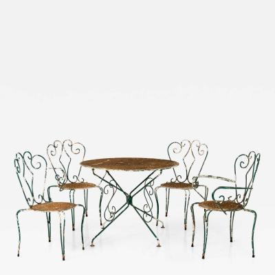 Outdoor Ironwork Dining Table Set
