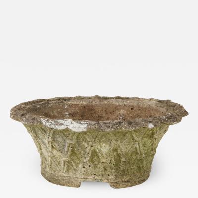 Oval Basket Weave Planter