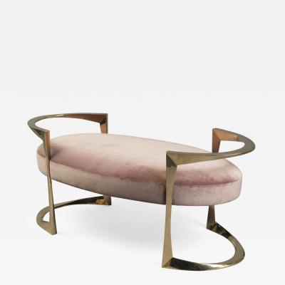 Oval Bronze Bench France 2018