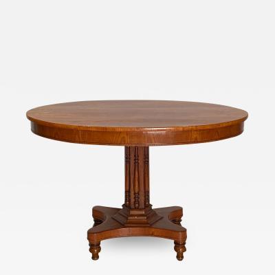 Oval Center Table Denmark Circa 19th Century