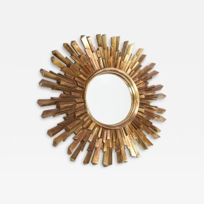 Oval Gold Sunburst Convex Mirror