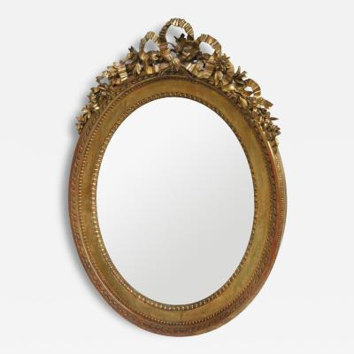 Oval Louis XVI Giltwood mirror