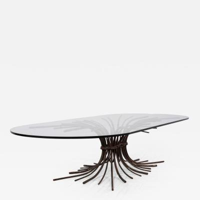 Oval Modern Style Ironwork Coffee Table