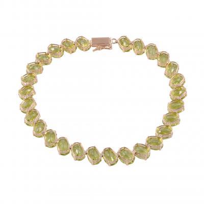 Oval Peridot Bracelet