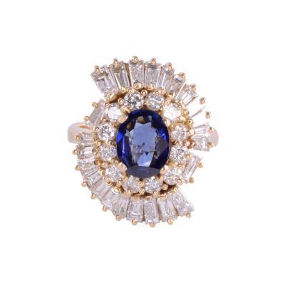 Oval Sapphire VS Diamond 18K Ring