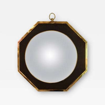Oval Wall Mirror in the Style of Maison Jansen Circa 1970 France