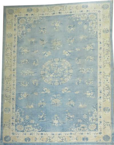 Oversize Light Blue Chinese Rug rug no j1538