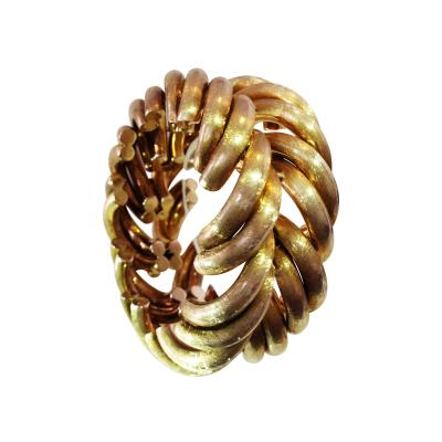 Oversized 14K Herring Bone Classic Bracelet