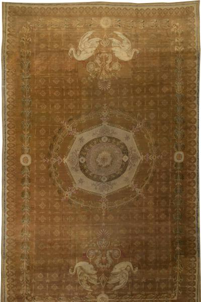 Oversized Antique French Directoire Savounery Carpet