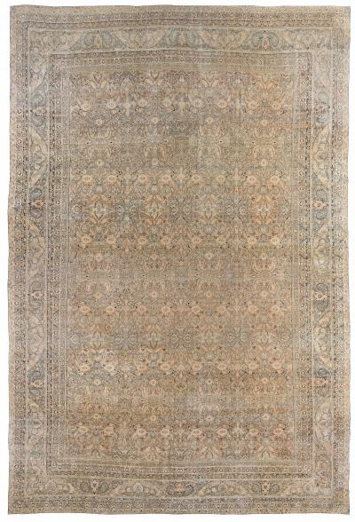 Oversized Antique Persian Kirman Carpet