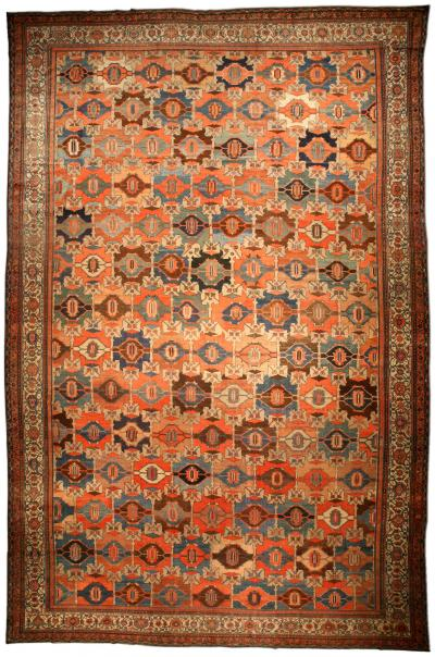 Oversized Antique Persian Malayer Rug size adjusted