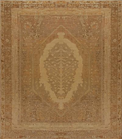 Oversized Antique Turkish Ghiordes Rug