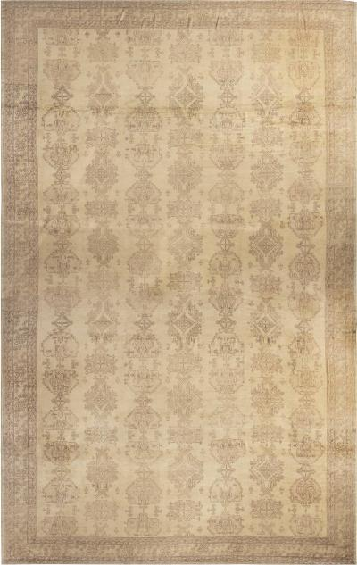 Oversized Antique Turkish Oushak Carpet