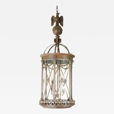 Oversized Cast Bronze Neoclassical Lantern
