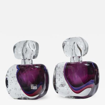 Oversized Murano Blown Amethyst Perfume Bottle Contemporary
