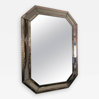Oversized Venetian Octagonal Hand Etched Mirror