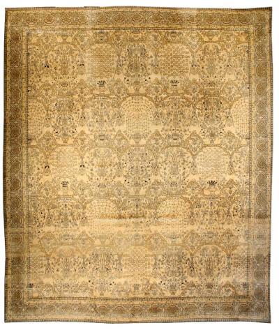 Oversized Vintage Indian Carpet size adjusted