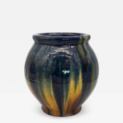 Oversized ceramic vase with Blue Cream glaze