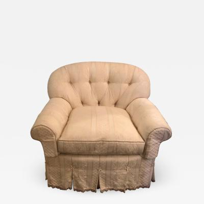 Overstuffed Very Fine Upholstered Lounge Chair Attributed to O Henry House LTD