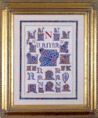 Owen Jones Owen Jones Initial Letters N Alphabet 1864