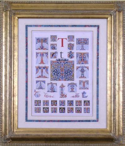 Owen Jones Owen Jones Initial Letters T Alphabet 1864