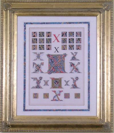Owen Jones Owen Jones Initial Letters X Alphabet 1864