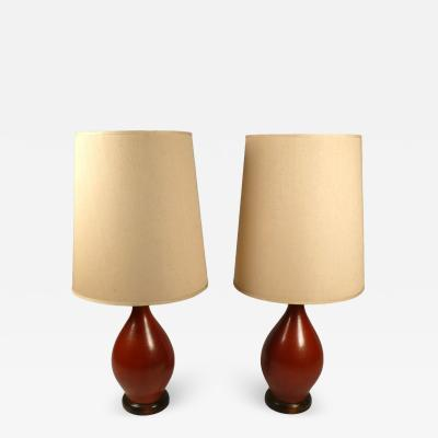 Oxblood Ceramic Table Lamps