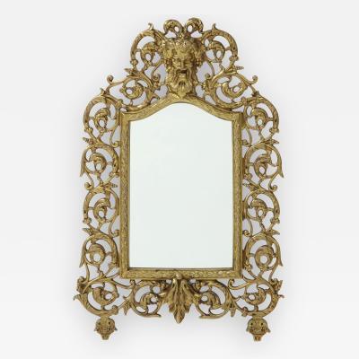 P E Guerin Antique Brass Vanity Mirror