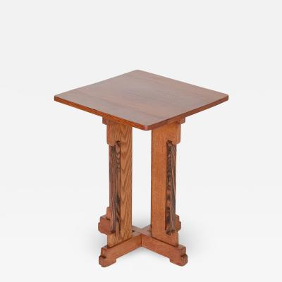 P E L Izeren P E L Izeren Art Deco Side Table in Oak and Macassar Genneper Molen 1930