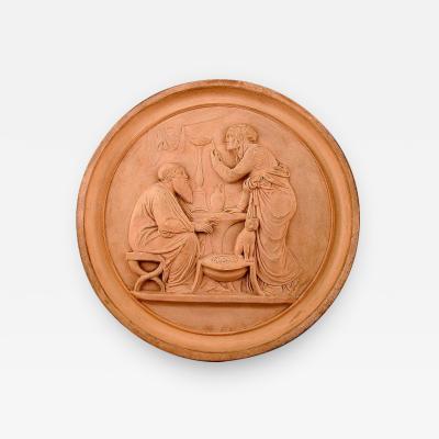 P Ipsen Plaque in fired clay terracotta