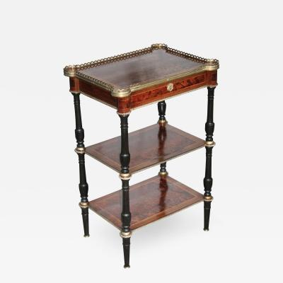 P Sormani Neoclassical Revival Three Tier Side Table