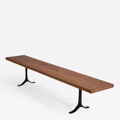 P Tendercool Bench Reclaimed Hardwood Sand Cast Brass Base by P Tendercool in Stock
