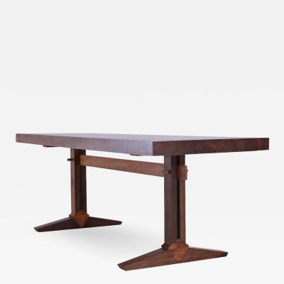 P Tendercool Bespoke Brutalist Meets Japan Desk Antique Hardwood Slab by P Tendercool