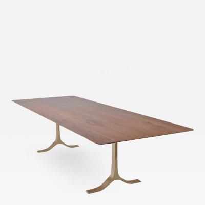 P Tendercool Bespoke Dining Table Reclaimed Wood Sand Cast Brass Base by P Tendercool