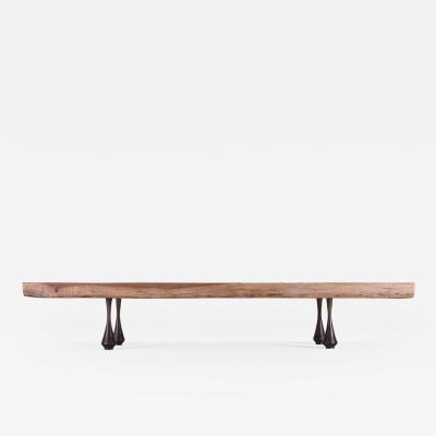P Tendercool Bespoke Low Table Single Slab of Antique Hardwood by P Tendercool in Stock
