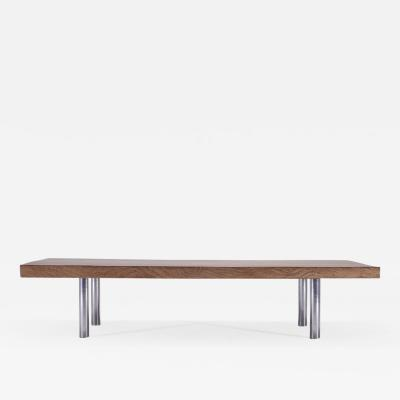 P Tendercool Bespoke Low Table with Single Slab of Antique Hardwood by P Tendercool