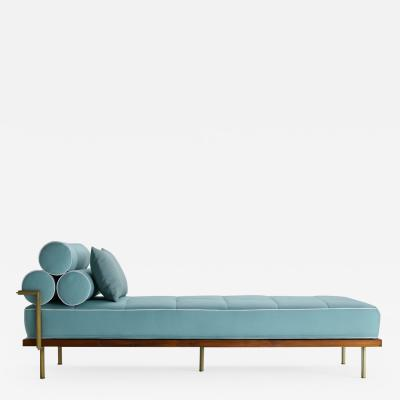 P Tendercool Bespoke Outdoor Daybed with Solid Brass Frame by P Tendercool