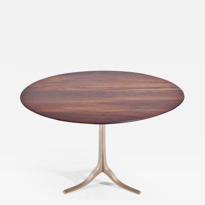 P Tendercool Bespoke Round Table Reclaimed Hardwood Brass Base by P Tendercool