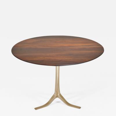 P Tendercool Bespoke Round Table Reclaimed Hardwood Bronze Base by P Tendercool in Stock