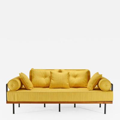 P Tendercool Bespoke Two Seat Sofa Brass Reclaimed Hardwood Frame P Tendercool in Stock