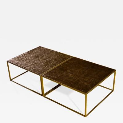 P Tendercool Brass Low Table Hand Cast Polished Bronze Top One of a kind by P Tendercool