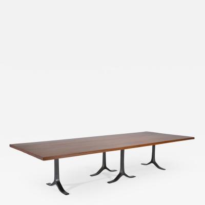 P Tendercool Conference Table Reclaimed Hardwood Sand Cast Aluminium Base by P Tendercool