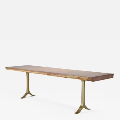 P Tendercool Console Table One Slab Antique Hardwood Cast Base by P Tendercool in Stock