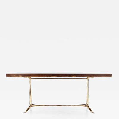 P Tendercool High Console Table in Single Slab of Antique Hardwood Available by P Tendercool