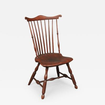 PAINTED FAN BACK WINDSOR SIDE CHAIR